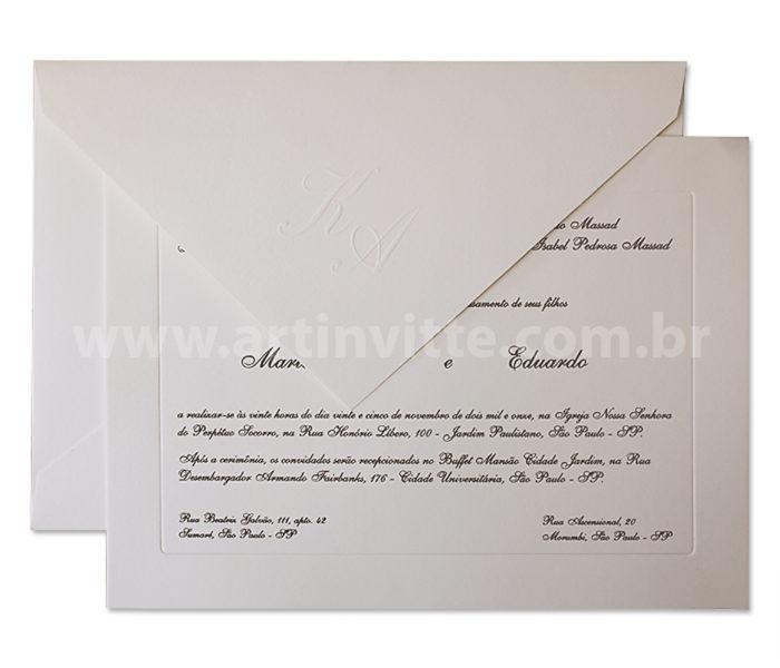 Convite de Casamento Tradicionais 1