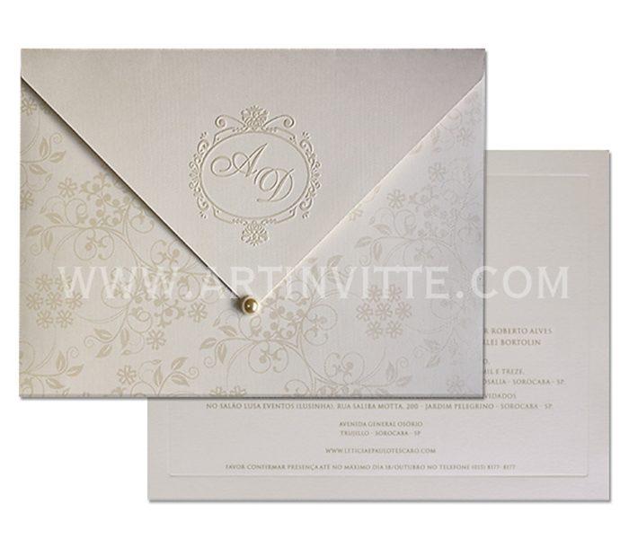 Convite de casamento modelo Veneza VZ 033