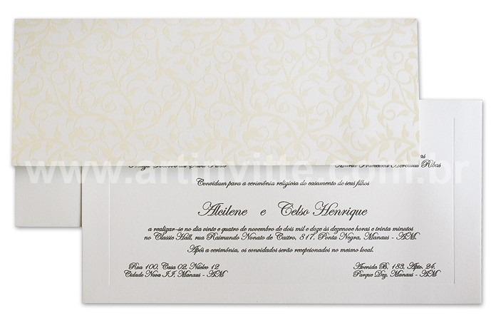 Convite de casamento Art Invitte Convites - Carteira CT-001