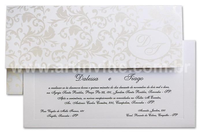 Convite de casamento Carteira CT 003