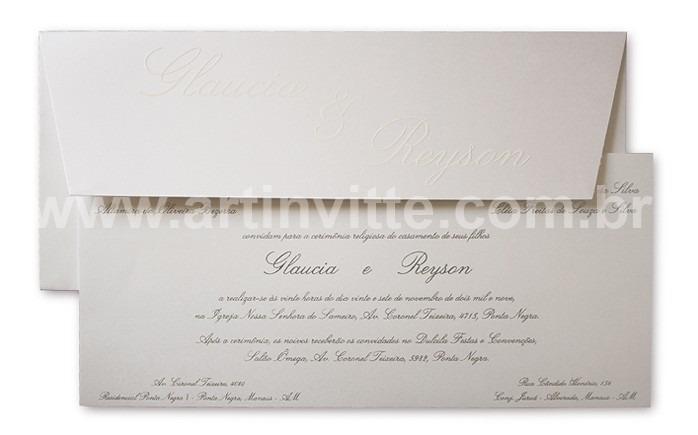 Convite de casamento Art Invitte Convites - Carteira CT-004