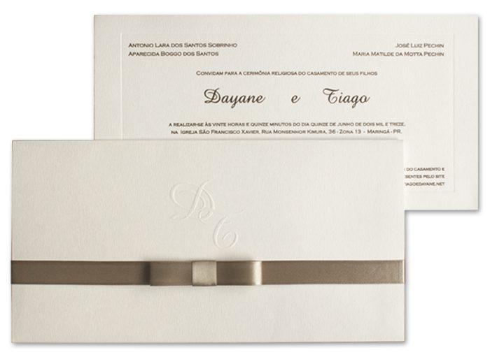 Convite de casamento Art Invitte Convites - Carteira CT-009