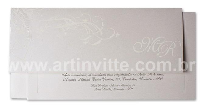 Convite de casamento Art Invitte Convites - Carteira CT-011