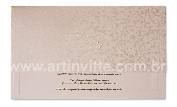 Convite de casamento Art Invitte Convites - Carteira CT-012