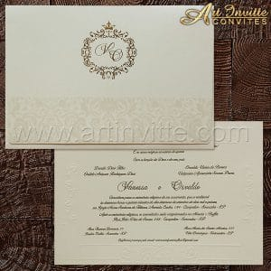 convite de casamento clássico Shangri-lá