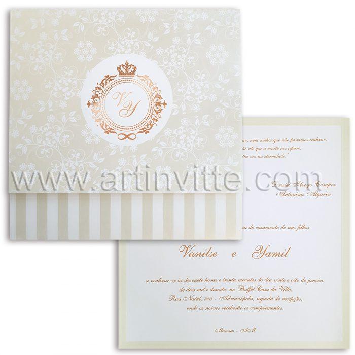 Convite de Casamento Triplo TRP 037