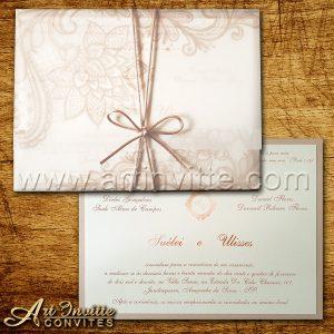 Modelos de convites de casamento 4