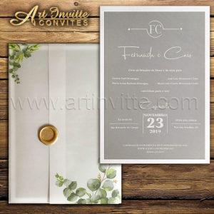 Convite de casamento rústico modelo TRP 040