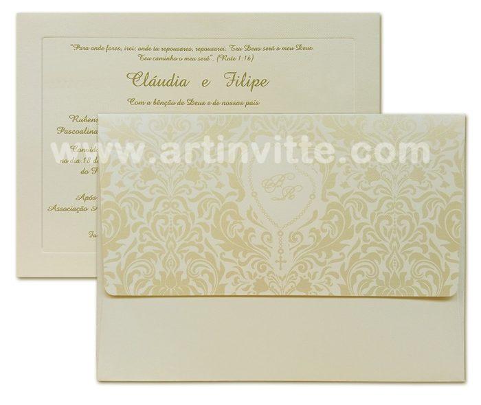 Convite de casamento VZ 045
