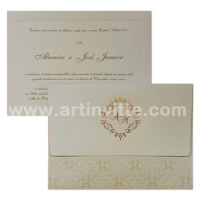 Convite de casamento Art Invitte Convites VZ 048