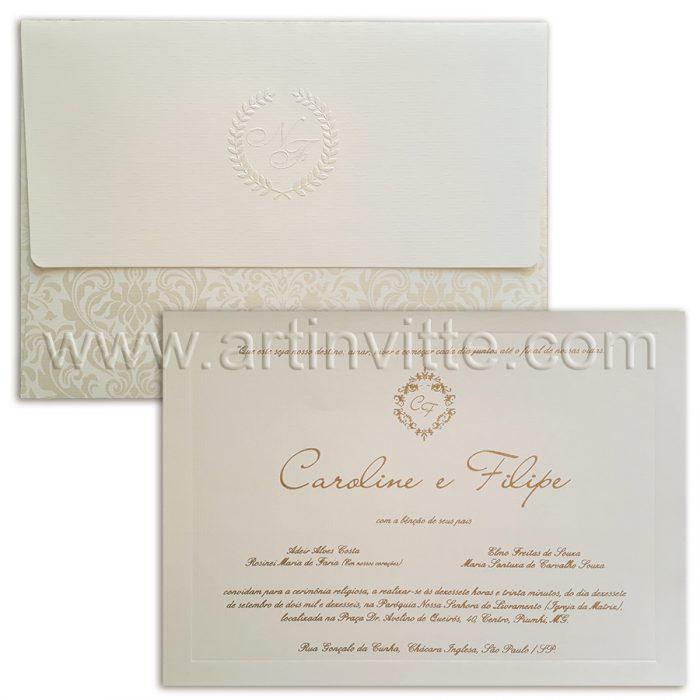 Convite de casamento Fendi Veneza VZ 084