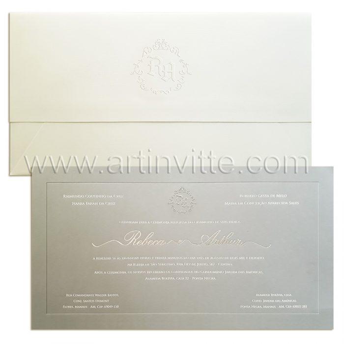 Convite de casamento moderno Veneza VZ 091