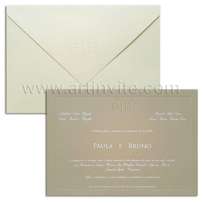 Convite de casamento moderno Veneza VZ 092