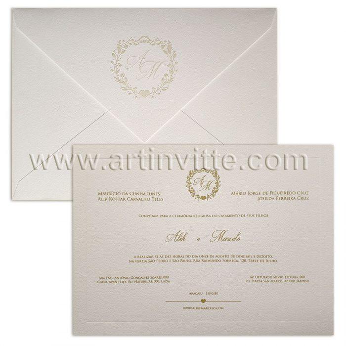 Convite de casamento Veneza VZ 095