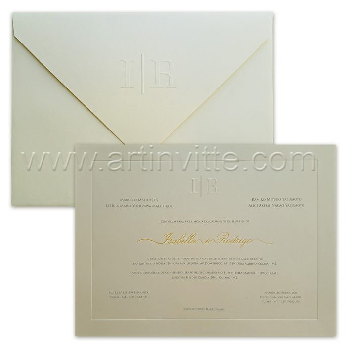 Convite de casamento Tradicional Veneza VZ 097