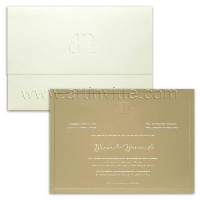 Convite de casamento Moderno Veneza VZ 098