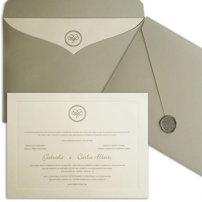 Convite de casamento tendência - Veneza VZ 131 - Art Invitte Con