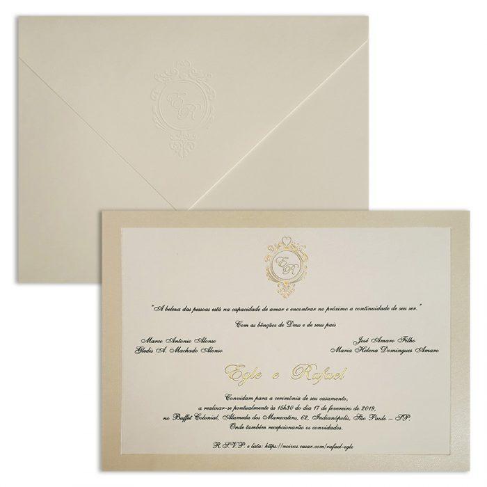 Convite de casamento Tradicional Veneza VZ 135