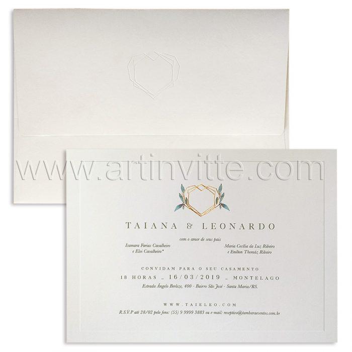 Convite de casamento Tradicional - Veneza VZ 144 - Art Invitte Convites