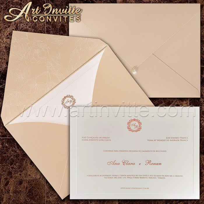 Convite de casamento modelo - Veneza VZ 160