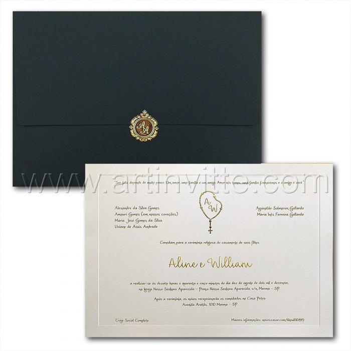 Convite de casamento Veneza VZ 173