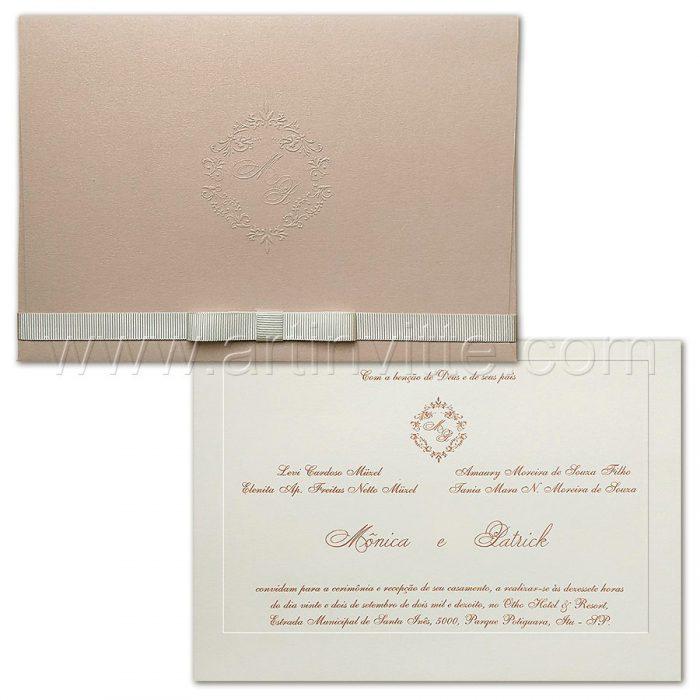 Convite de casamento Veneza VZ 175