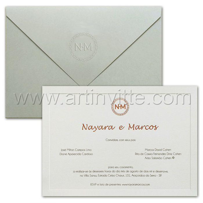 Convite de casamento Clássico Veneza VZ 170