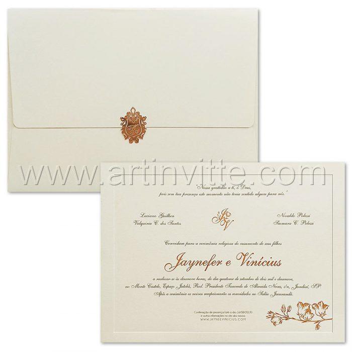 Convite de casamento Tradicional Veneza VZ 179