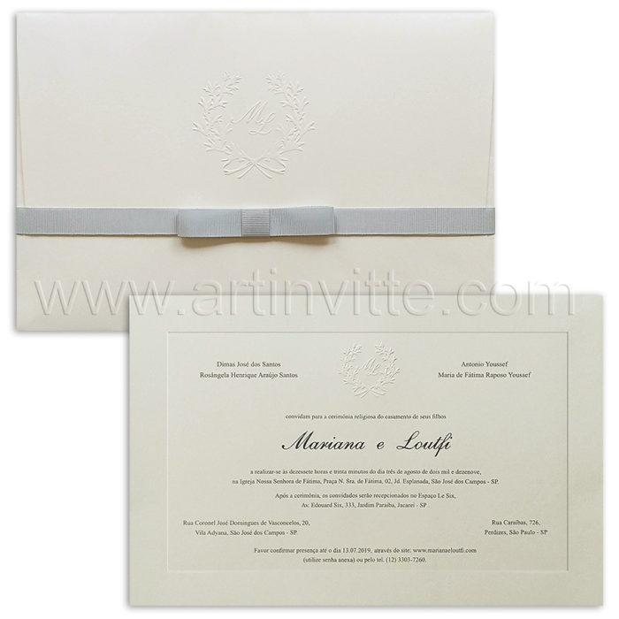 Convite de casamento Tradicional Veneza VZ 188 - Art Invitte Convites de casamento