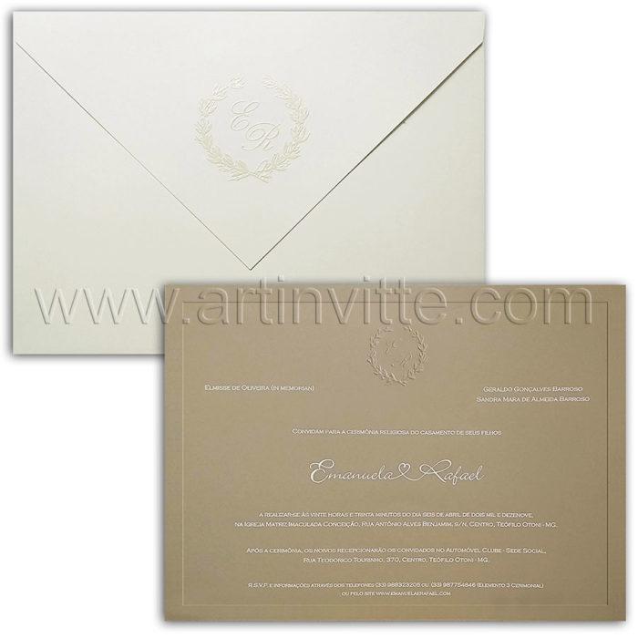 Convite de casamento tradicional Veneza VZ 205
