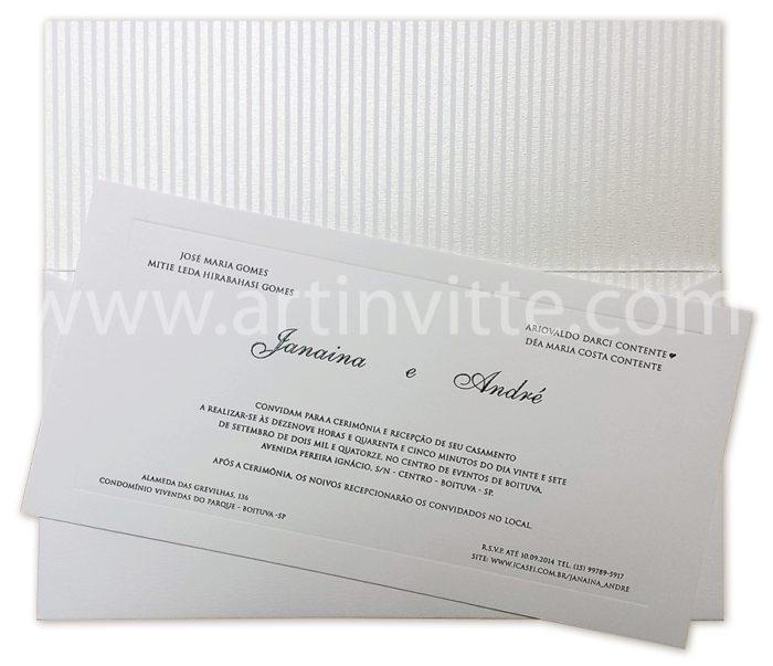 Convite de casamento Art Invitte Convites - Carteira CT-014