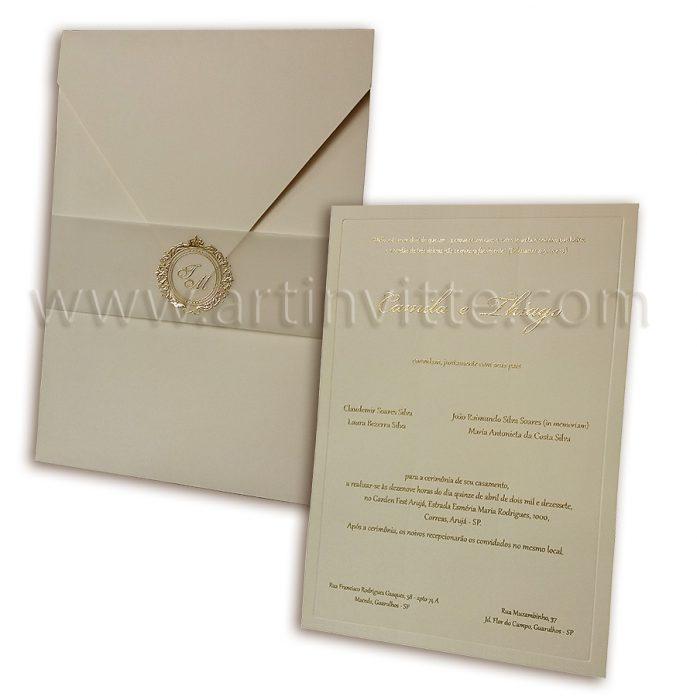 Convite de casamento Veneza VZ 056