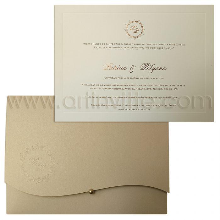 Convite de Casamento Art Invitte Convites - Veneza VZ 057