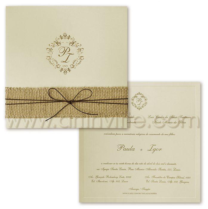Convite de Casamento Rústico - VZ 058 - convites rústicos