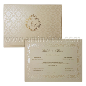 Convite de casamento tradicional Alexandria AL 021