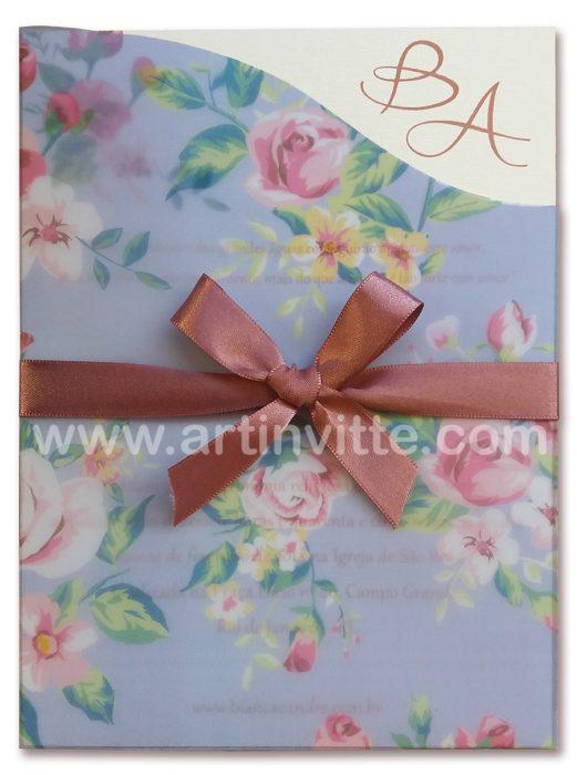 Convite de casamento Fronha FR 040