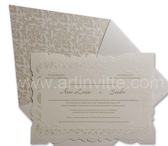 Convite de Casamento Sevilha SV 009