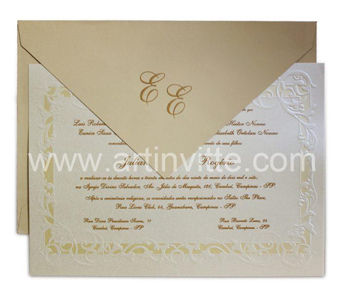 Convite de Casamento Alexandria AL 001