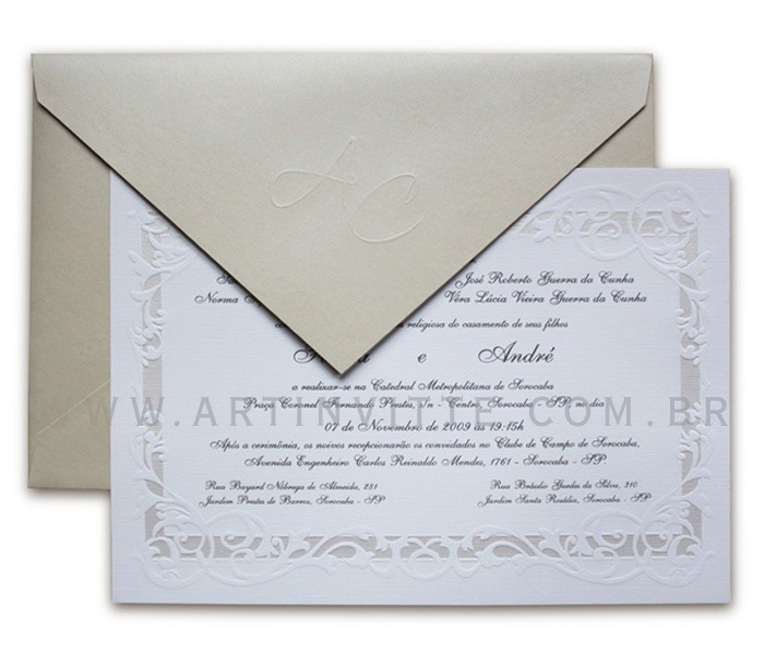 Convite de Casamento Alexandria AL 003