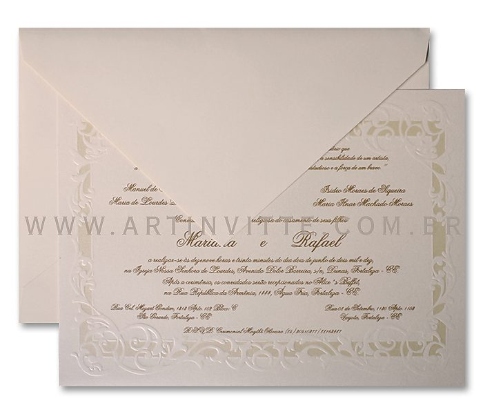 Convite de Casamento Alexandria AL 008,