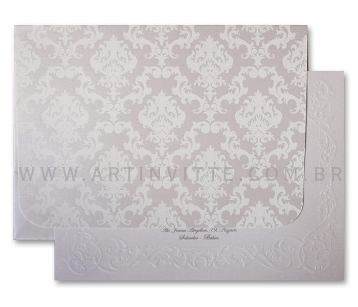 Convite para casamento Romântico Alexandria AL 012