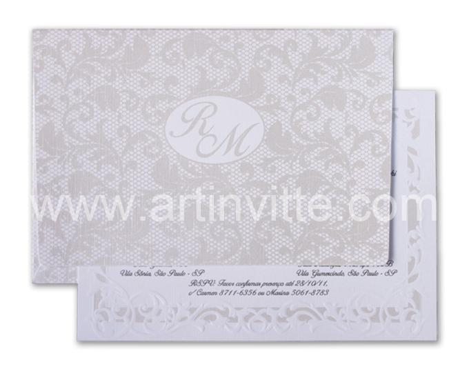 Convite de Casamento Alexandria AL 017