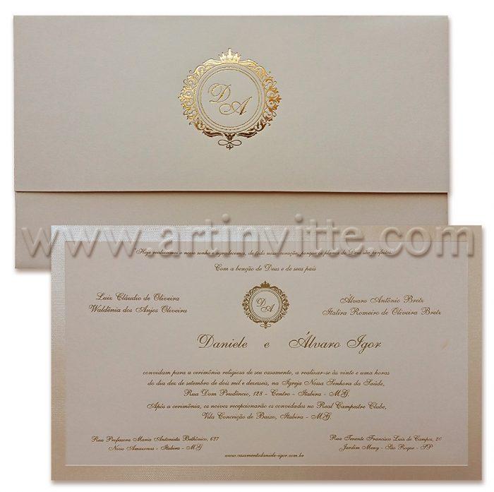 Convite de casamento Art Invitte Convites - Carteira CT-021
