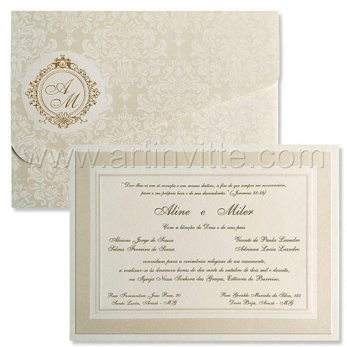 Convite de casamento tradicional Cozumel CZ 023