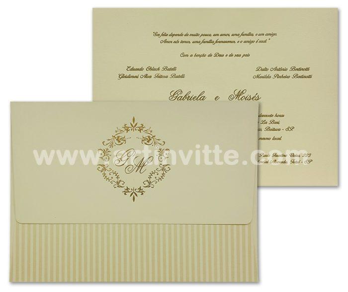 Convite de casamento Haia HA 002 - 18x24