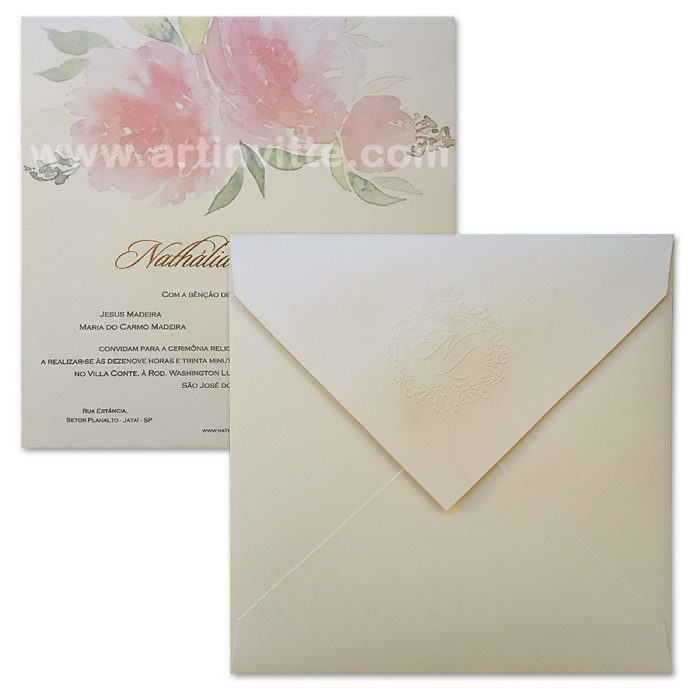 Convite de casamento HA 001