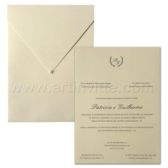 Convite de casamento Haia HA-016