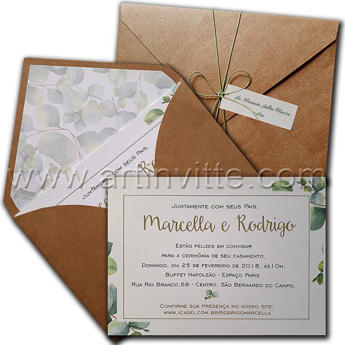 Fitas e laços para para convites de casamento 1