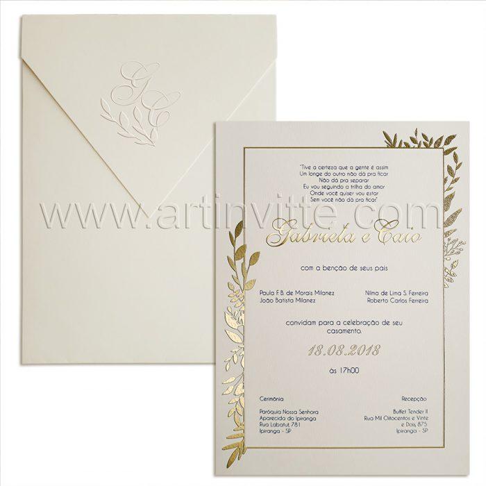Convite para casamento Moderno Haia HA 033
