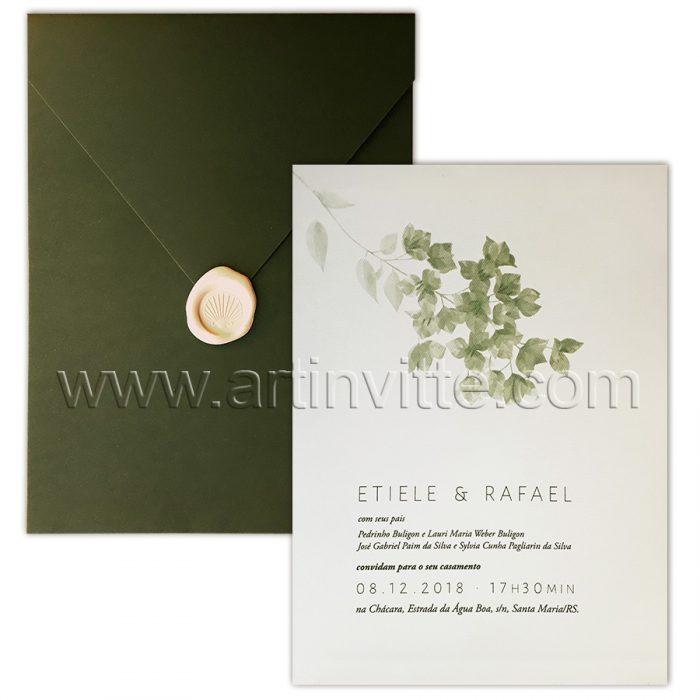 Convite de casamento elegante - Haia HA 048 - Natureza